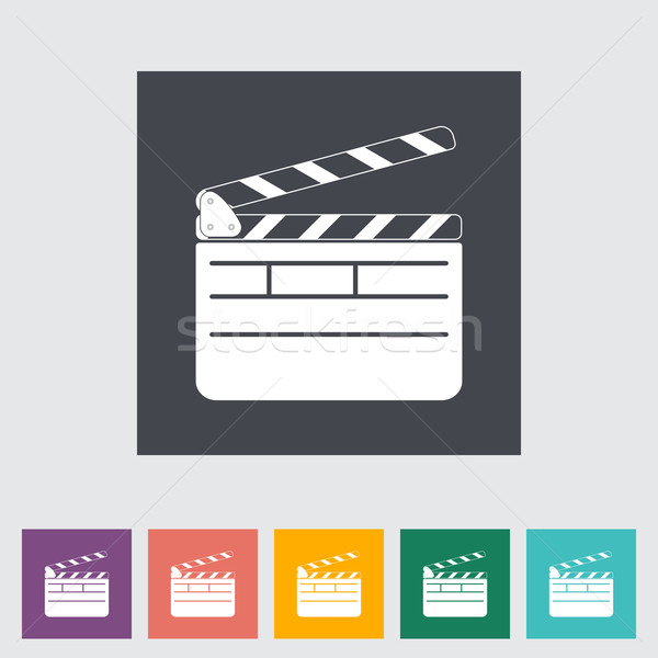 Director clapperboard flat icon. Stock photo © smoki