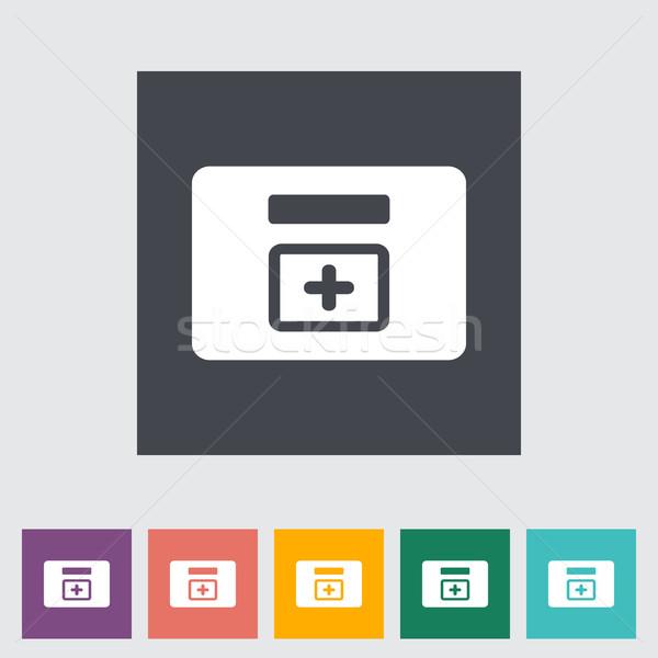 First aid kits flat icon. Stock photo © smoki