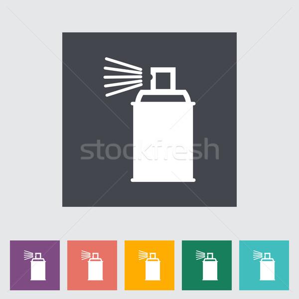 Spray vegyszerek művészet sziluett szín takarítás Stock fotó © smoki