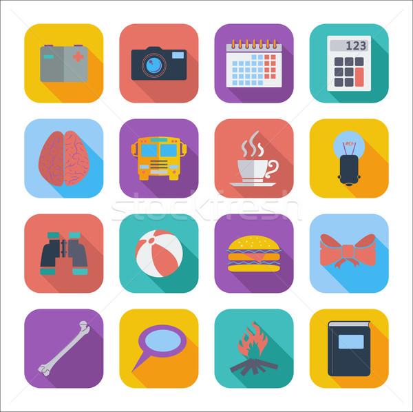Icone web design colore mobile applicazioni set Foto d'archivio © smoki