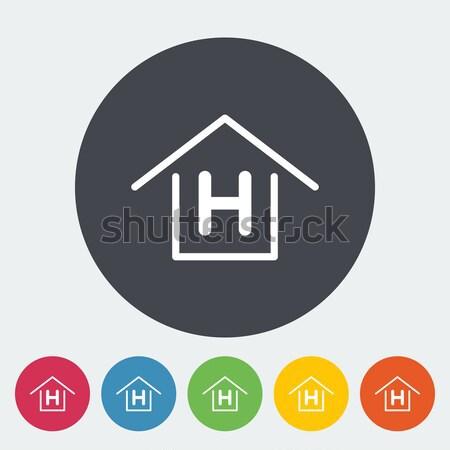 Herberg icon cirkel business huis ontwerp Stockfoto © smoki
