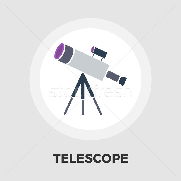 Telescope icon flat Stock photo © smoki