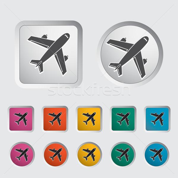 Havaalanı ikon eps dizayn imzalamak web Stok fotoğraf © smoki