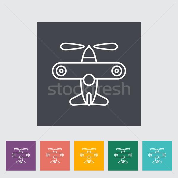 Airplane toy icon Stock photo © smoki