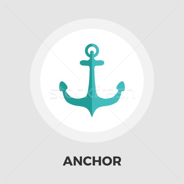 Anchor Flat Icon Stock photo © smoki