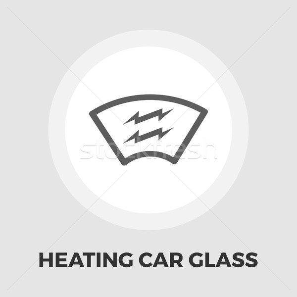 ısıtma otomotiv cam ikon vektör yalıtılmış Stok fotoğraf © smoki