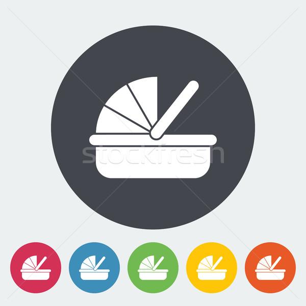 Kołyska ikona wektora internetowych komórkowych aplikacje Zdjęcia stock © smoki