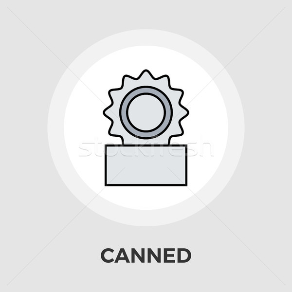 Canned Vector Flat Icon Stock photo © smoki