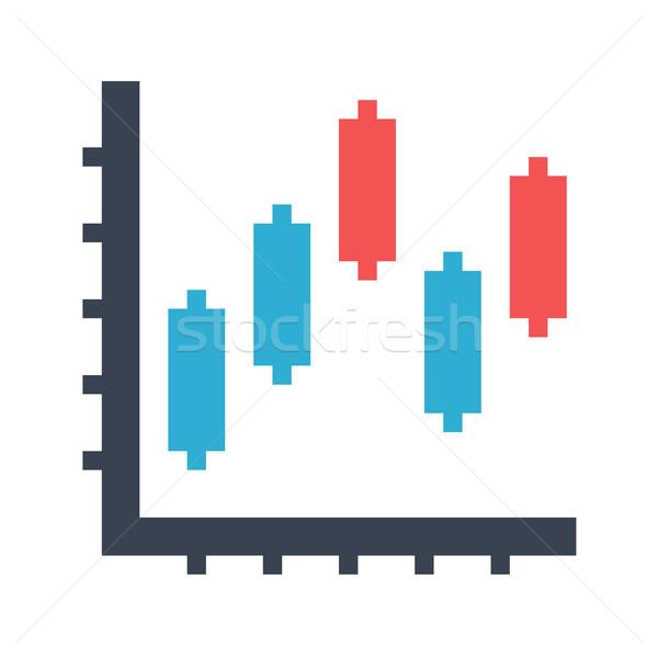 Diyagram Japon mumlar vektör ikon yalıtılmış Stok fotoğraf © smoki
