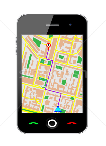 Cellphone gps Stock photo © smoki