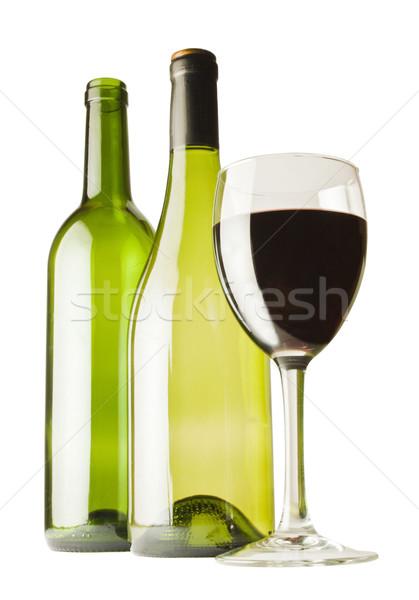 Cam iki şarap şişeler şişe Stok fotoğraf © smoki