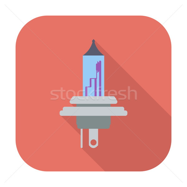 Xênon carro lâmpada ícone cor pintar Foto stock © smoki