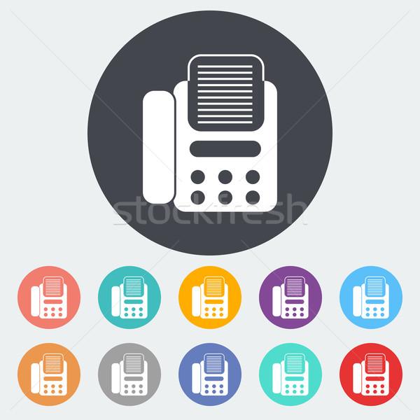 Fax ikon kör üzlet iroda telefon Stock fotó © smoki