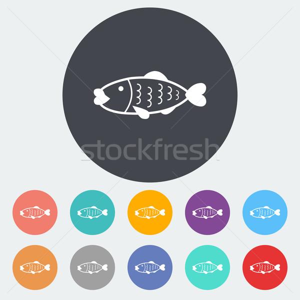 Fish icon Stock photo © smoki