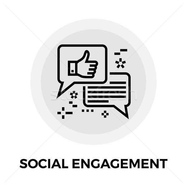 Sociale impegno line icona vettore isolato Foto d'archivio © smoki
