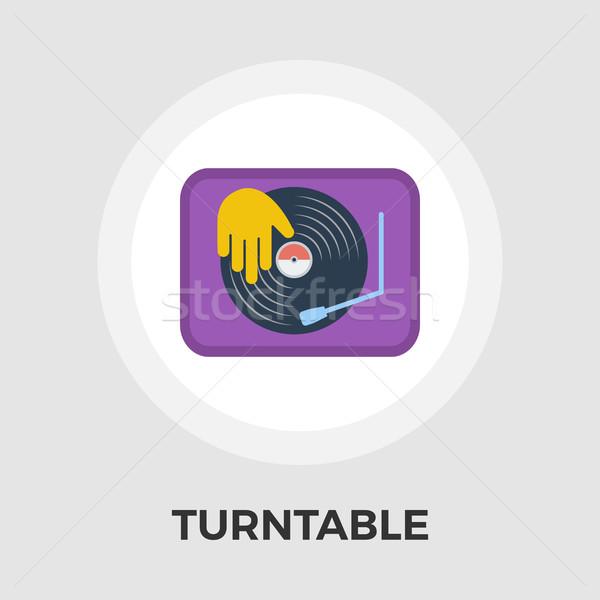 Turntable flat icon. Stock photo © smoki