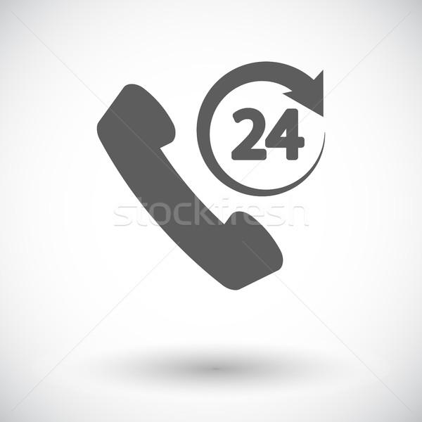 Ondersteuning 24 icon witte internet technologie Stockfoto © smoki
