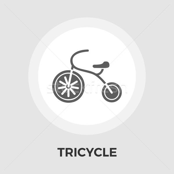 üç tekerlekli bisiklet ikon vektör yalıtılmış beyaz düzenlenebilir Stok fotoğraf © smoki