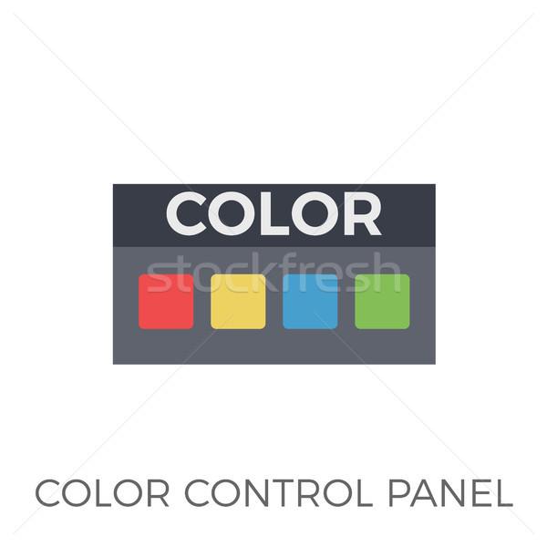 色 コントロールパネル アイコン ベクトル 孤立した 白 ストックフォト © smoki
