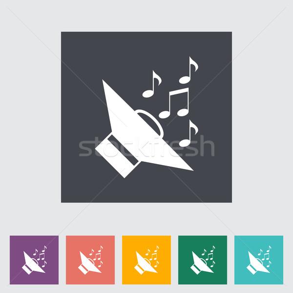 Icona auto altoparlanti musica design tecnologia Foto d'archivio © smoki