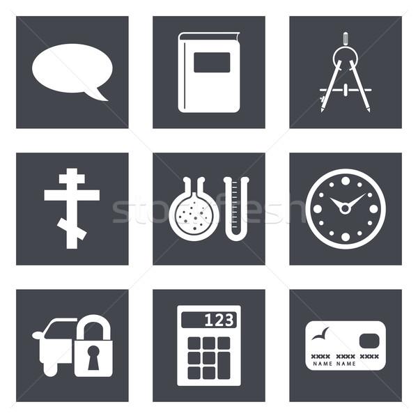 Simgeler web tasarım ayarlamak 15 hareketli uygulamaları Stok fotoğraf © smoki