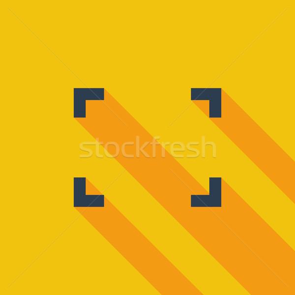 Deploying video flat icon. Stock photo © smoki