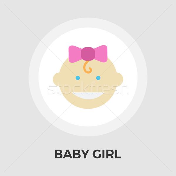 Baby girl Vector Flat Icon Stock photo © smoki
