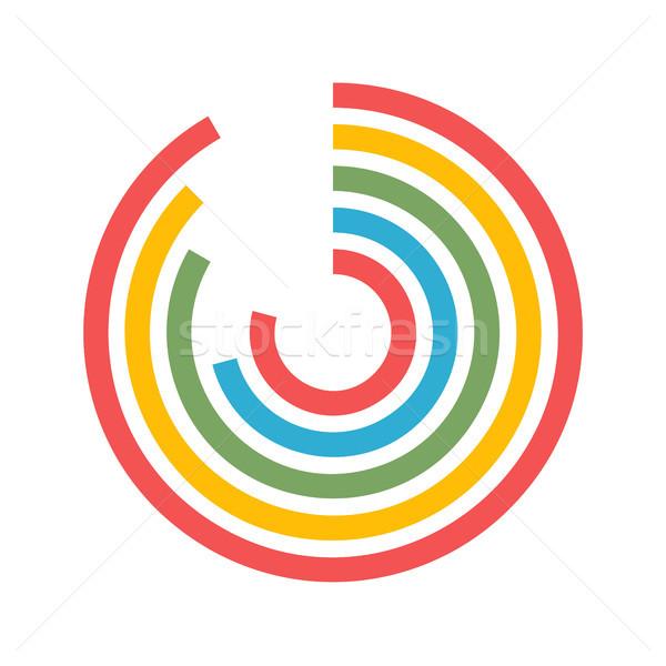Cirkeldiagram vector icon geïsoleerd witte Stockfoto © smoki