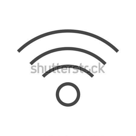 Wi FI Thin Line Vector Icon. Stock photo © smoki