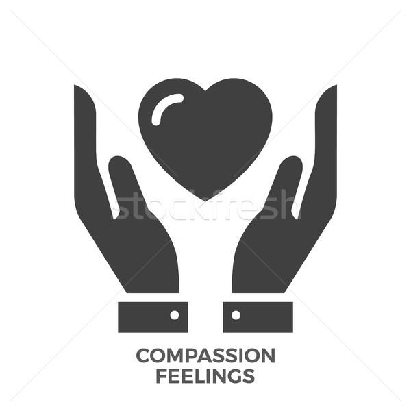 Compassion Feelings Glyph Vector Icon. Stock photo © smoki