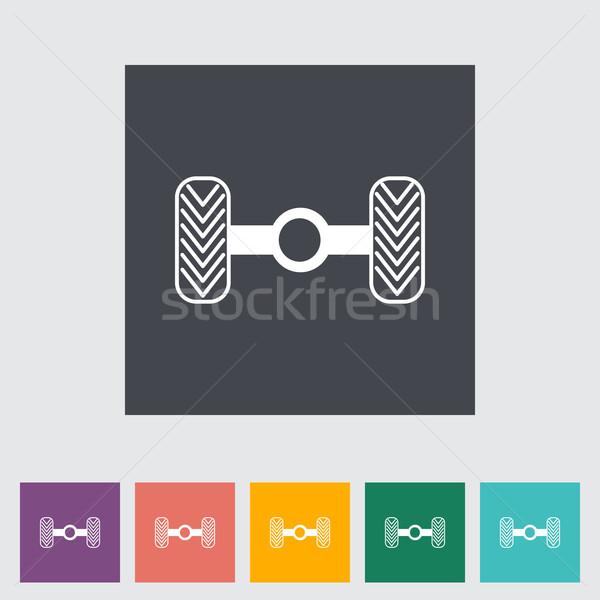 Chassis car single flat icon. Stock photo © smoki