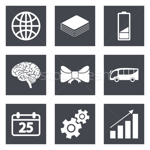 Icons for Web Design and Mobile Applications set 5 Stock photo © smoki