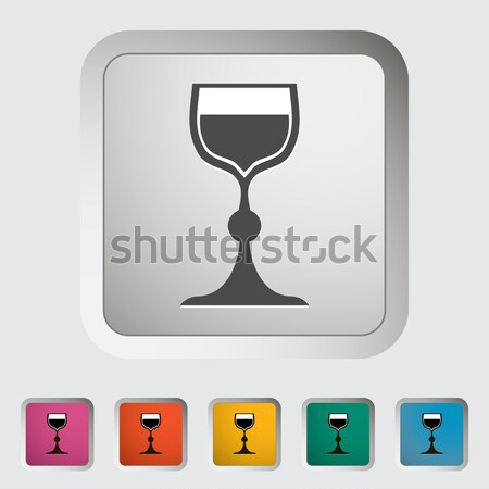Bread and wine single icon. Stock photo © smoki