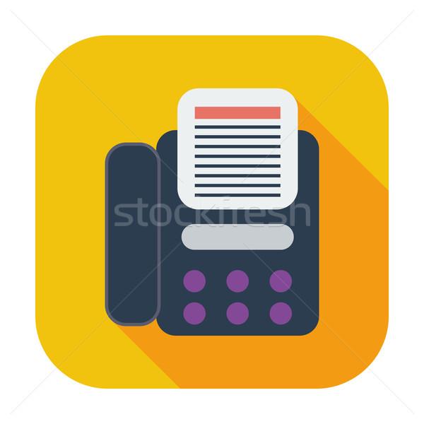 Fax icône couleur affaires bureau téléphone Photo stock © smoki
