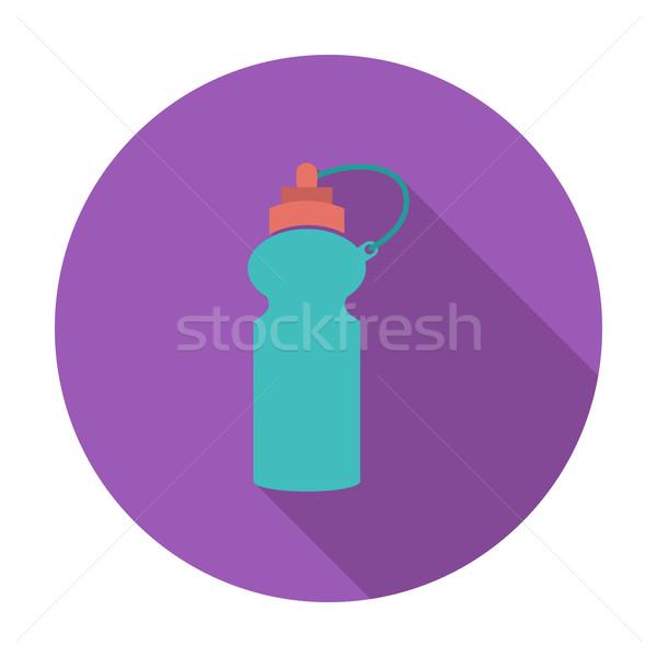 Sport une bouteille d'eau icône couleur fitness boire Photo stock © smoki
