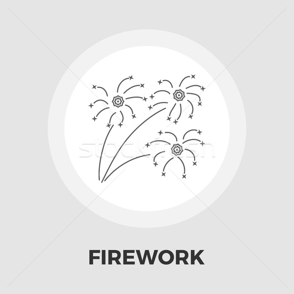 Firework flat icon Stock photo © smoki