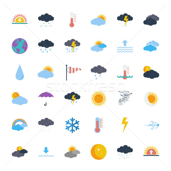 Weather icons Stock photo © smoki