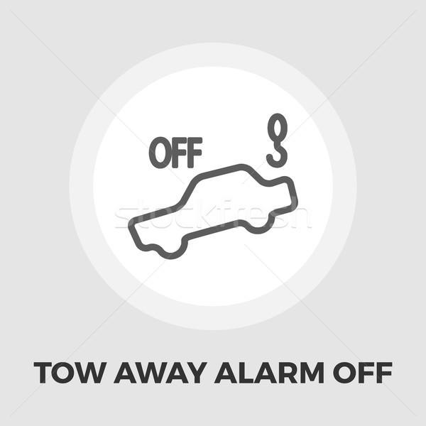 Tow away alarm off icon flat Stock photo © smoki