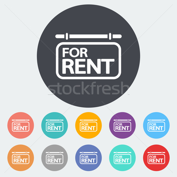 Stock photo: For rent. Single icon.