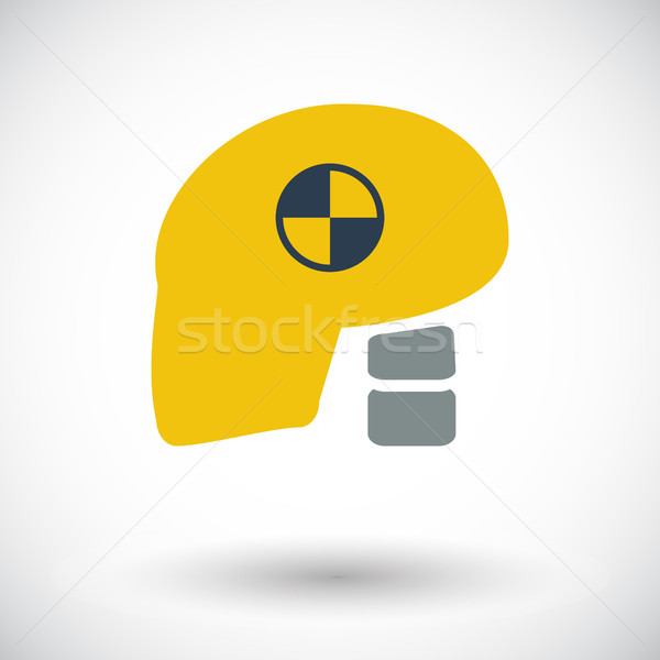 Icon dummy head for crash test. Stock photo © smoki