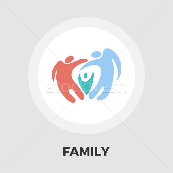 Stockfoto: Familie · icon · abstract · vector · geïsoleerd · witte