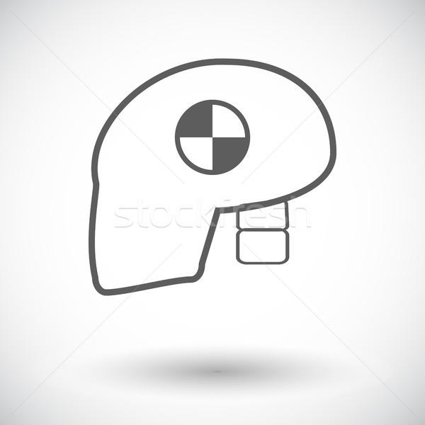 Ikon fej csattanás teszt fehér autó Stock fotó © smoki
