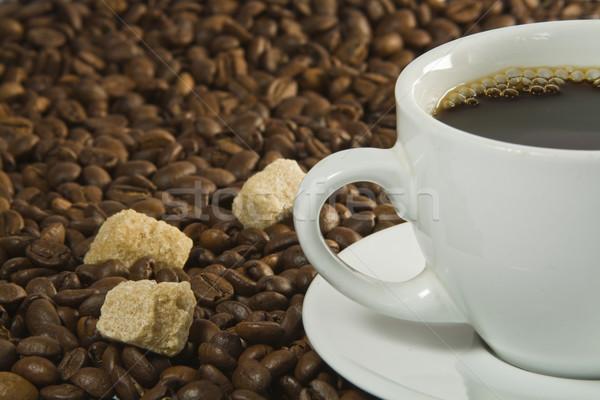 コーヒーカップ 砂糖 コーヒー豆 食品 コーヒー カフェ ストックフォト © smoki