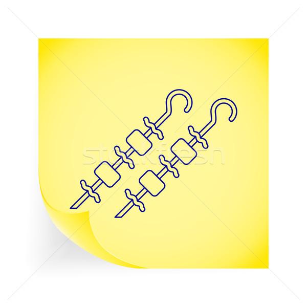 Kebap ikon sarı restoran boyama Stok fotoğraf © smoki