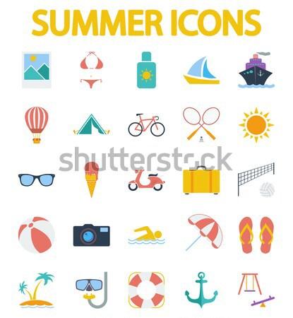 Summer icons Stock photo © smoki