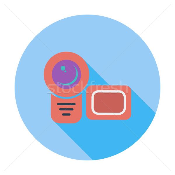 Photo stock: Caméra · vidéo · icône · couleur · film · design · fond