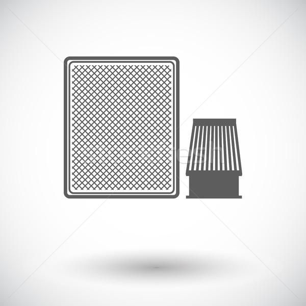 Autóipari szűrő ikon fehér technológia bolt Stock fotó © smoki