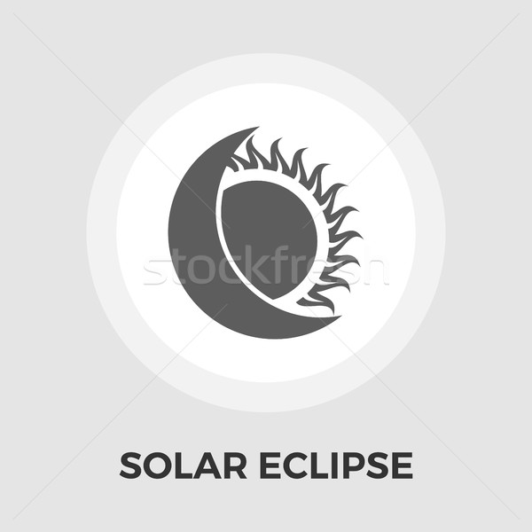 Zonne eclips icon vector geïsoleerd witte Stockfoto © smoki