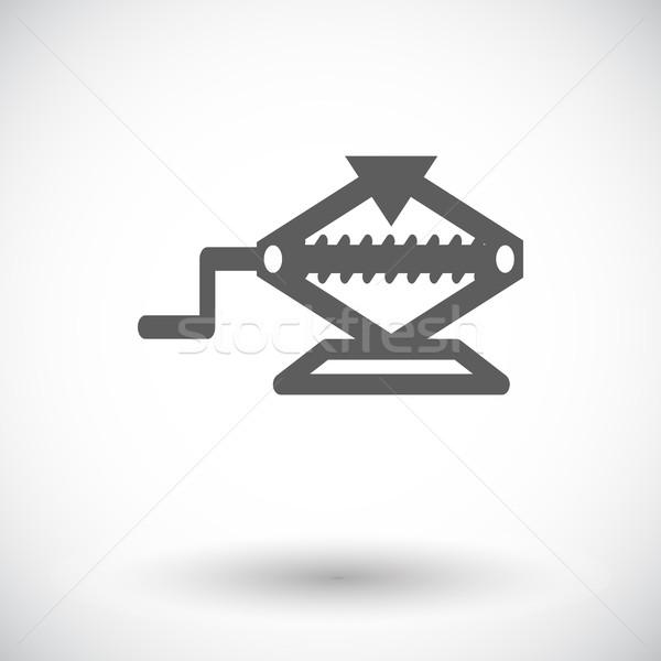 икона белый магазин черный службе силуэта Сток-фото © smoki
