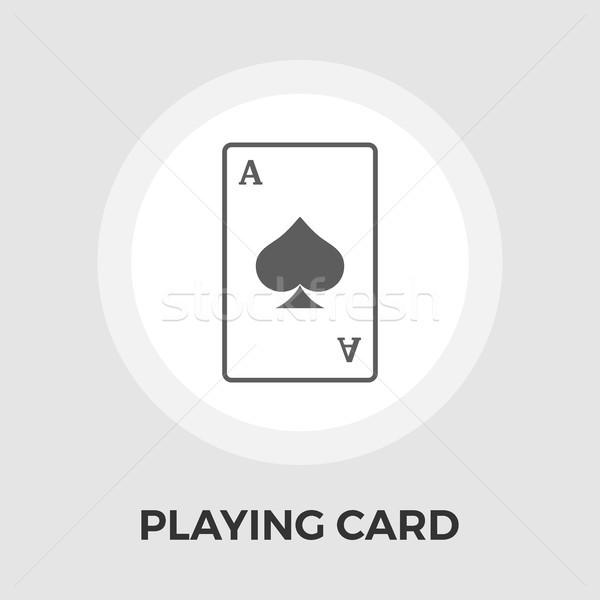 Karty do gry ikona wektora odizolowany biały Zdjęcia stock © smoki